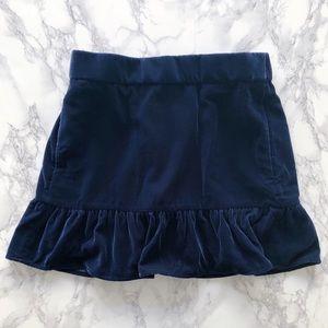 J. Crew velvet skirt